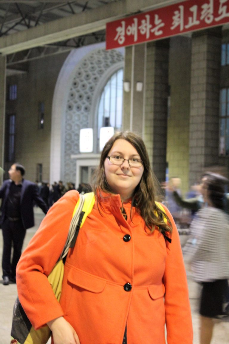 Photo of myself in Pyongyang station