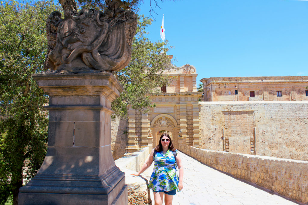 The first stop on our Game of Thrones tour. Mdina Gate.