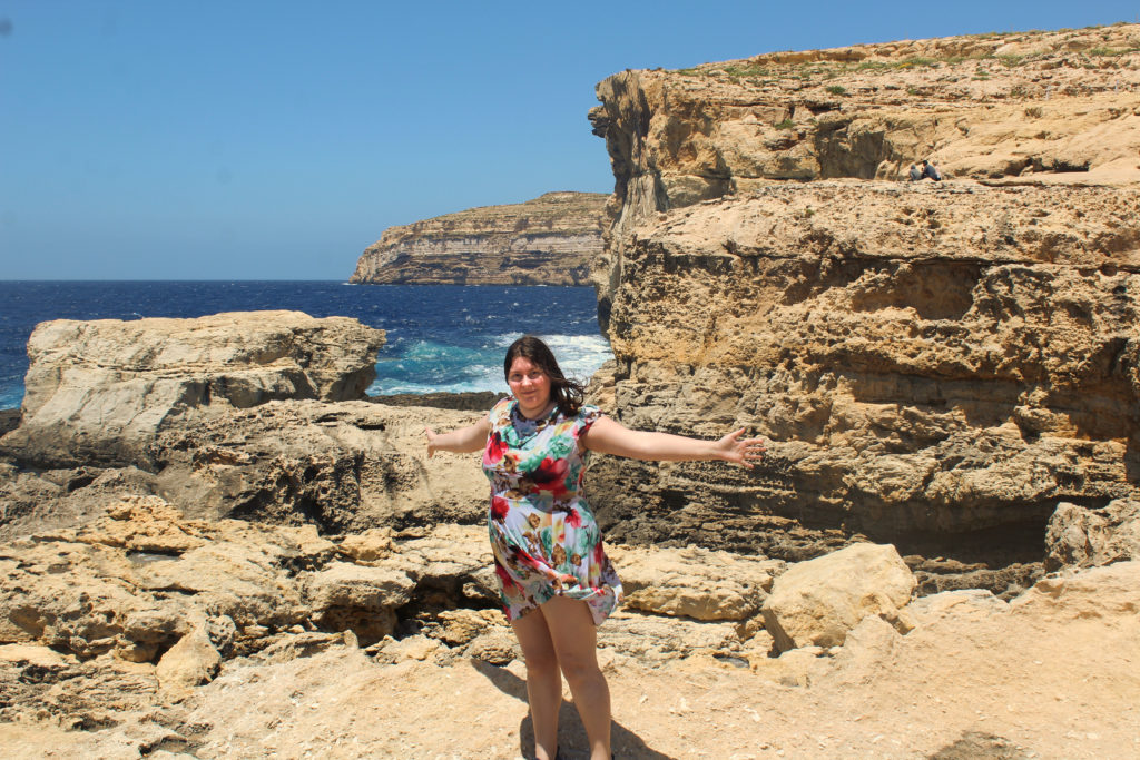The remains of the Azure Window. Final stop on the Game of Thrones in Malta tour.
