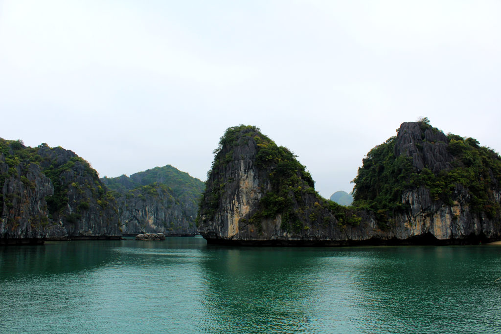 The amazing view from our cheap Ha Long Bay cruise