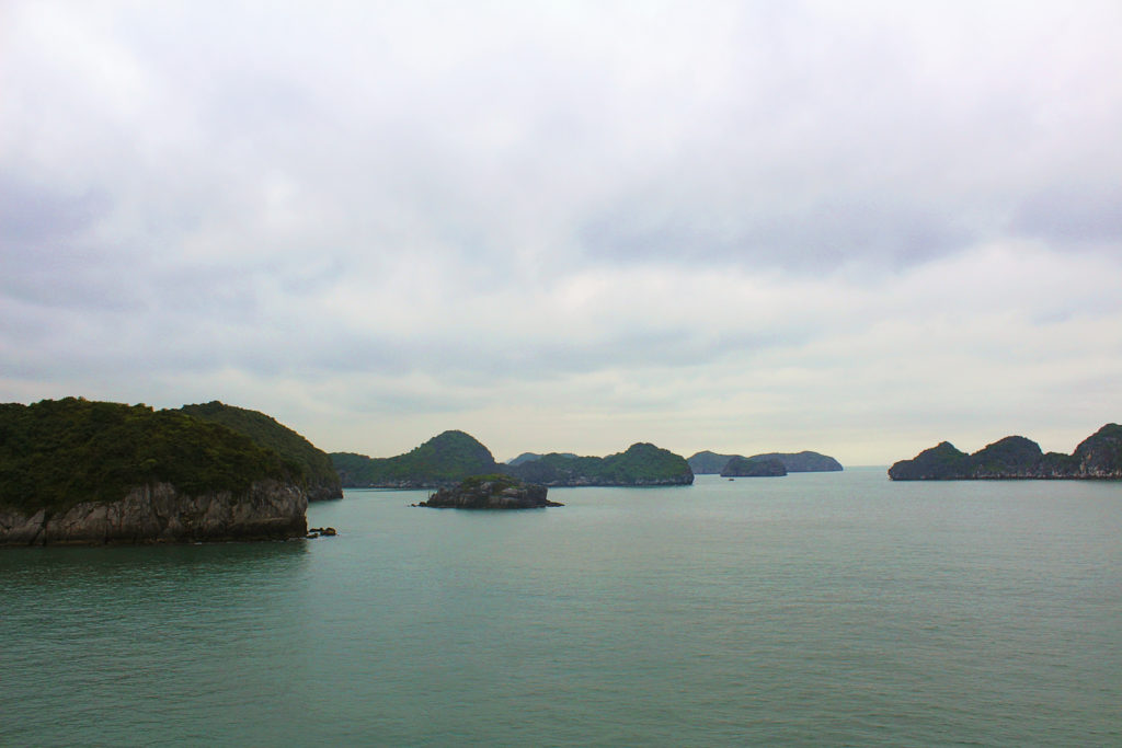 View of Lan Ha Bay from Cat Ba island
