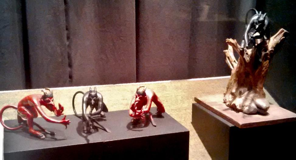 Group of devil sculptures
