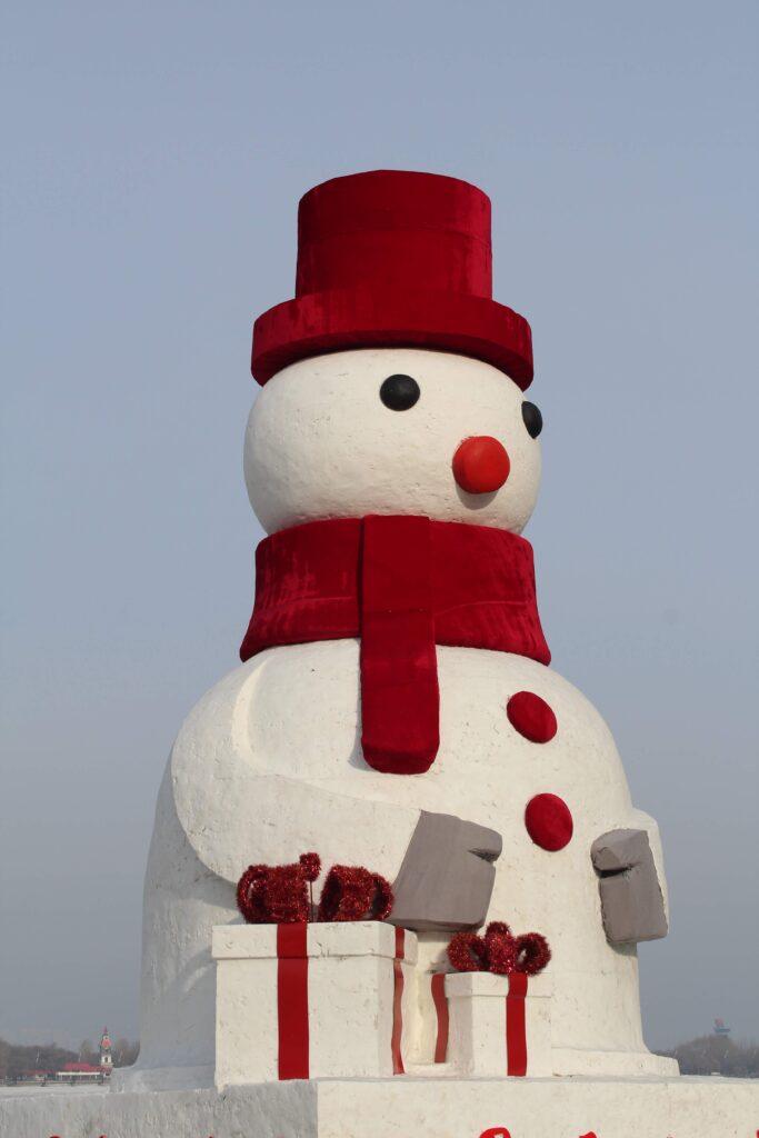 A giant snowman in Harbin