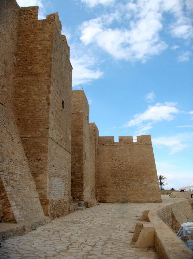 Exterior shot of Monastir Ribat